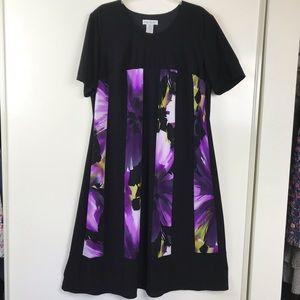 Ulla Popken Knit Career Dress 14 Black Purple